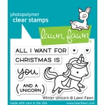 Lawn Fawn - Winter Unicorn Stamps