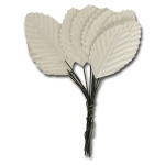 Maya Road - Ken Oliver - Vintage Paper Leaves - White - 15 pieces