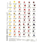 Daniel Smith Extra Fine™ Watercolor 238-Dot Color Chart: Multi, Card, Watercolor, (model 001900482), price per each