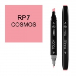ShinHan Art TOUCH Twin Cosmos Marker; Barrel Color: Black; Color: Red/Pink; Double-Ended: Yes; Ink Type: Alcohol-Based; Refillable: Yes; Tip Type: Dual; (model 1110007-RP7), price per each