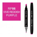 ShinHan Art TOUCH Twin Vivid Red Purple Marker: Black, Purple, Double-Ended, Alcohol-Based, Refillable, Dual, (model 1110086-RP86), price per each