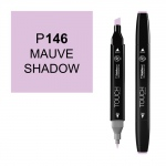ShinHan Art TOUCH Twin Mauve Shadow Marker; Barrel Color: Black; Color: Purple; Double-Ended: Yes; Ink Type: Alcohol-Based; Refillable: Yes; Tip Type: Dual; (model 1110146-P146), price per each