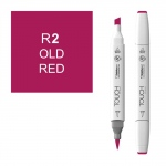 ShinHan Art TOUCH Twin Brush Old Red Marker: White, Red/Pink, Double-Ended, Alcohol-Based, Refillable, Dual, (model 1210002-R2), price per each