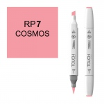 ShinHan Art TOUCH Twin Brush Cosmos Marker: White, Red/Pink, Double-Ended, Alcohol-Based, Refillable, Dual, (model 1210007-RP7), price per each