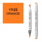 ShinHan Art TOUCH Twin Brush Orange Marker: White, Orange, Double-Ended, Alcohol-Based, Refillable, Dual, (model 1210023-YR23), price per each