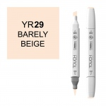 ShinHan Art TOUCH Twin Brush Twin Marker Bareley Beige; Barrel Color: White; Color: White/Ivory; Double-Ended: Yes; Ink Type: Alcohol-Based; Refillable: Yes; Tip Type: Dual; (model 1210029-YR29), price per each