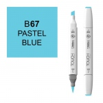 ShinHan Art TOUCH Twin Brush Pastel Blue Marker: White, Blue, Double-Ended, Alcohol-Based, Refillable, Dual, (model 1210067-B67), price per each