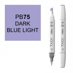 ShinHan Art TOUCH Twin Brush Dark Blue Light Marker; Barrel Color: White; Color: Blue; Double-Ended: Yes; Ink Type: Alcohol-Based; Refillable: Yes; Tip Type: Dual; (model 1210075-PB75), price per each