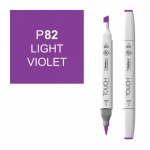 ShinHan Art TOUCH Twin Brush Light Violet Marker: White, Purple, Double-Ended, Alcohol-Based, Refillable, Dual, (model 1210082-P82), price per each