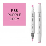 ShinHan Art TOUCH Twin Brush Purple Grey Marker: White, Purple, Double-Ended, Alcohol-Based, Refillable, Dual, (model 1210088-P88), price per each