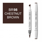 ShinHan Art TOUCH Twin Brush Chestnut Brown Marker: White, Brown, Double-Ended, Alcohol-Based, Refillable, Dual, (model 1210098-BR98), price per each