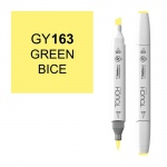 ShinHan Art TOUCH Twin Brush Green Bice Marker; Barrel Color: White; Color: Yellow; Double-Ended: Yes; Ink Type: Alcohol-Based; Refillable: Yes; Tip Type: Dual; (model 1210163-GY163), price per each