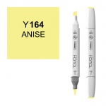 ShinHan Art TOUCH Twin Brush Anise Marker: White, Yellow, Double-Ended, Alcohol-Based, Refillable, Dual, (model 1210164-Y164), price per each