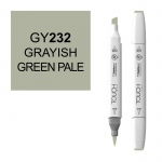 ShinHan Art TOUCH Twin Brush Grayish Green Pale Marker; Barrel Color: White; Color: Green; Double-Ended: Yes; Ink Type: Alcohol-Based; Refillable: Yes; Tip Type: Dual; (model 1210232-GY232), price per each
