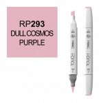 ShinHan Art TOUCH Twin Brush Dull Cosmos Purple Marker; Barrel Color: White; Color: Purple; Double-Ended: Yes; Ink Type: Alcohol-Based; Refillable: Yes; Tip Type: Dual; (model 1210293-RP293), price per each