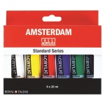 Royal Talens Amsterdam® All Acrylic Standard Ser 6-Color Paint Set 20ml: Multi, Tube, 20 ml, Acrylic, (model 17820406), price per set