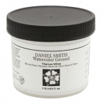 Daniel Smith Watercolor Ground 4oz Titanium White; Color: White/Ivory; Format: Jar; Size: 4 oz; Type: Watercolor; (model 284055002), price per each