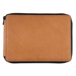 Global Art Materials™ Leather Pencil Case Saddle Brown; Color: Brown; Material: Leather; (model 412120), price per each