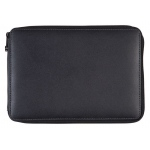 Global Art Materials™ Leather Pencil Case Black; Color: Black/Gray; Material: Leather; (model 414120), price per each