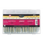 Pigma® 59-Piece Artist Gift Set; Ink Type: Pigment; Quantity: 59-Pack; Type: Technical; (model 50050), price per set