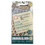 "Pigma® Micron® Zentangle® 3 1/2"" Tan Renaissance Tile Set: Multi, Pencil, (model 50112), price per set"