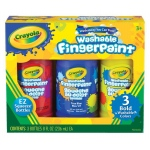Crayola® Washable Fingerpaint Primary Set; Format: Bottle; Quantity: 3-Pack; Size: 8 oz; Type: Washable; (model 55-1310), price per set