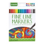 Crayola® Aged Up Fine Line Markers 12-Color Classic Colors; Color: Multi; Tip Type: Fine Nib; (model 58-7713), price per each
