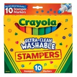 Crayola® Ultra-Clean Washable™ Stamper Markers: Washable, (model 58-8148), price per set