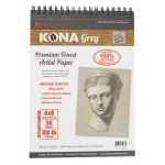 "Hand Book Journal Co.™ Kona Grey Artist Paper 6"" x 8""; Binding: Wire Bound; Color: Black/Gray; Quantity: 36 Sheets; Size: 6"" x 8""; Weight: 88 lb; (model 662068), price per 36 Sheets pad"