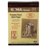 "Hand Book Journal Co.™ Kona Tan Artist Paper 9"" x 12""; Binding: Wire Bound; Color: Brown; Quantity: 36 Sheets; Size: 9"" x 12""; Weight: 88 lb; (model 664912), price per 36 Sheets pad"