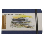 "Hand Book Journal Co.™ Travelogue Series Artist Journal 3.5"" x 5.5"" Pocket Landscape Ultramarine Blue; Color: Black/Gray; Quantity: 128 Sheets; Size: 3 1/2"" x 5 1/2""; Weight: Heavyweight; (model 721222), price per each"