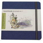 "Hand Book Journal Co.™ Travelogue Series Artist Journal 5.5"" x 5.5"" The Square Ultramarine Blue; Color: Blue; Quantity: 128 Sheets; Size: 5 1/2"" x 5 1/2""; Weight: Heavyweight; (model 721332), price per each"