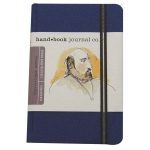"Hand Book Journal Co.™ Travelogue Series Artist Journal 8.25"" x 5.5"" Large Portrait Ultramarine Blue; Color: Black/Gray; Quantity: 128 Sheets; Size: 5 1/2"" x 8 1/4""; Weight: Heavyweight; (model 721412), price per each"