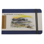 "Hand Book Journal Co.™ Travelogue Series Artist Journal 5.5"" x 8.25"" Large Landscape Ultramarine Blue; Color: Blue; Quantity: 128 Sheets; Size: 5 1/2"" x 8 1/4""; Weight: Heavyweight; (model 721422), price per each"