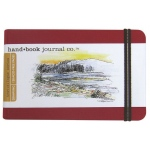 "Hand Book Journal Co.™ Travelogue Series Artist Journal 5.5"" x 8.25"" Large Landscape Vermillion Red; Color: Red/Pink; Quantity: 128 Sheets; Size: 5 1/2"" x 8 1/4""; Weight: Heavyweight; (model 721424), price per each"