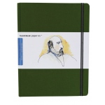 "Hand Book Journal Co.™ Travelogue Series Artist Journal 10.5"" x 8.25"" Grand Portrait Cadmium Green; Color: Green; Quantity: 128 Sheets; Size: 8 1/4"" x 10 1/2""; Weight: Heavyweight; (model 721513), price per each"