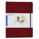 "Hand Book Journal Co.™ Travelogue Series Artist Journal 10.5"" x 8.25"" Grand Portrait Vermillion Red: Red/Pink, 128 Sheets, 8 1/4"" x 10 1/2"", Heavyweight, (model 721514), price per each"