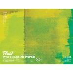 "Hand Book Journal Co.™ Fluid™ Easy-Block™ Hot Press Watercolor Paper 6"" x 8""; Quantity: 15 Sheets; Size: 6"" x 8""; Texture: Hot Press; Weight: 140 lb; (model 850068), price per 15 Sheets pad"