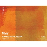 "Hand Book Journal Co.™ Fluid™ Easy-Block™ Cold Press Watercolor Paper 6"" x 8"": 15 Sheets, 6"" x 8"", Cold Press, 140 lb, (model 880068), price per 15 Sheets pad"