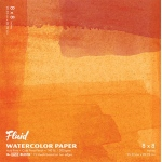 "Hand Book Journal Co.™ Fluid™ Easy-Block™ Cold Press Watercolor Paper 8"" x 8"": 15 Sheets, 8"" x 8"", Cold Press, 140 lb, (model 880088), price per 15 Sheets pad"