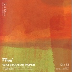 "Hand Book Journal Co.™ Fluid™ Easy-Block™ Cold Press Watercolor Paper 12"" x 12""; Quantity: 15 Sheets; Size: 12"" x 12""; Texture: Cold Press; Weight: 140 lb; (model 881212), price per 15 Sheets pad"