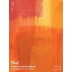 "Hand Book Journal Co.™ Fluid™ Easy-Block™ Cold Press Watercolor Paper 12"" x 16"": 15 Sheets, 12"" x 16"", Cold Press, 140 lb, (model 881216), price per 15 Sheets pad"