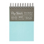"Hand Book Journal Co.™ Flip-Sketch™ Wire-Bound Sketchbook 5"" x 7"" Portrait Pool; Binding: Wire Bound; Color: Blue; Quantity: 100 Sheets; Size: 5"" x 7""; Weight: 60 lb; (model 960015), price per 100 Sheets pad"