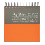 "Hand Book Journal Co.™ Flip-Sketch™ Wire-Bound Sketchbook 6"" x 6"" Square Mandarin; Binding: Wire Bound; Color: Orange; Quantity: 100 Sheets; Size: 6"" x 6""; Weight: 60 lb; (model 960020), price per 100 Sheets pad"