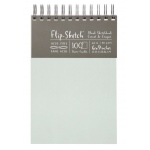 "Hand Book Journal Co.™ Flip-Sketch™ Wire-Bound Sketchbook 6"" x 9"" Portrait Mist; Binding: Wire Bound; Color: Green; Quantity: 100 Sheets; Size: 6"" x 9""; Weight: 60 lb; (model 960030), price per 100 Sheets pad"