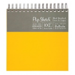 "Hand Book Journal Co.™ Flip-Sketch™ Wire-Bound Sketchbook 8"" x 8"" Square Butternut; Binding: Wire Bound; Color: Yellow; Quantity: 100 Sheets; Size: 8"" x 8""; Weight: 60 lb; (model 960050), price per 100 Sheets pad"