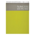 "Hand Book Journal Co.™ Flip-Sketch™ Wire-Bound Sketchbook 9"" x 12"" Portrait Fern; Binding: Wire Bound; Color: Green; Quantity: 100 Sheets; Size: 9"" x 12""; Weight: 60 lb; (model 960080), price per 100 Sheets pad"
