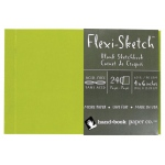 "Hand Book Journal Co.™ Flexi-Sketch™ Soft-Cover Sketchbook 4"" x 6"" Landscape Fern; Color: Green; Quantity: 240 Sheets; Size: 4"" x 6""; Weight: 60 lb; (model 969110), price per 240 Sheets pad"