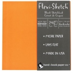 "Hand Book Journal Co.™ Flexi-Sketch™ Soft-Cover Sketchbook 6"" x 6"" Square Mandarin: Orange, 240 Sheets, 6"" x 6"", 60 lb, (model 969120), price per 240 Sheets pad"