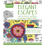 """Crayola® Aged Up Coloring Book Elegant Escapes; Format: Book; Size: 8 1/2"""" x 10""""; (model 99-2023), price per each"""